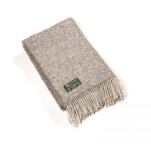 John Hanly Large Undyed Pure Wool Blanket Throw 1303