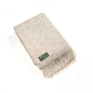 John Hanly Irish Undyed Pure Wool Blanket Throw 1302