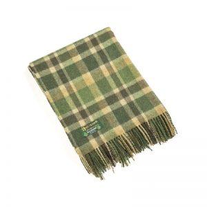 Lambswool Green Irish Blanket John Hanly 618