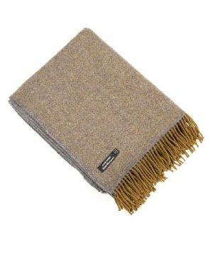 John Hanly Cashmere Irish Wool Blanket Throw