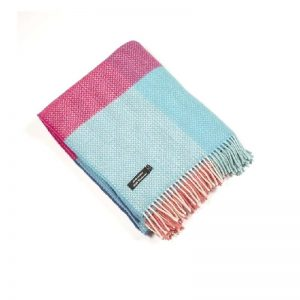 John Hanly Cashmere Multi Color Blanket Throw