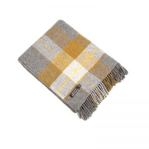 John Hanly Gray Cashmere Blanket Throw 1460