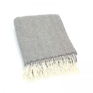 John Hanly Gray Blanket Throw Cashmere 1474