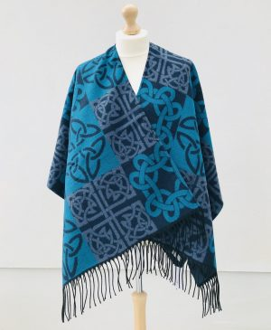 Jimmy Hourihan Celtic Reversible Ruana/Shawl/Wrap