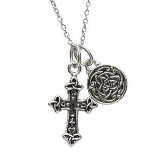 Silver Two Piece Celtic Trinity Pendant