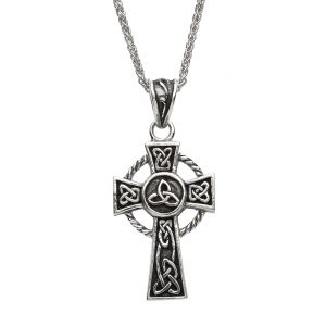 Celtic Silver Trinity Knot Cross