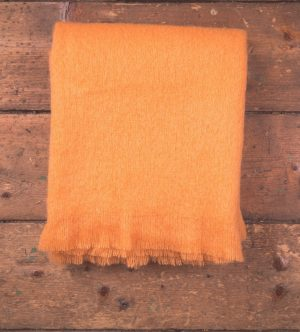 Foxford Orange Mohair Blanket Throw