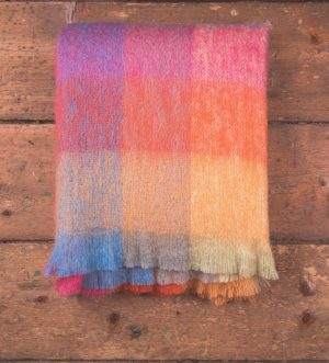 Foxford Multi Color Mohair Blanket Throw