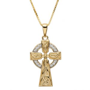 10K Gold Trinity Celtic Cross