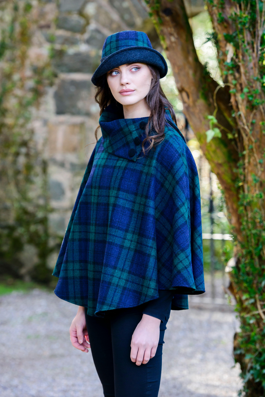Blackwatch Mucros Irish Poncho Skellig Gift Store Waterville abd3b8386f8