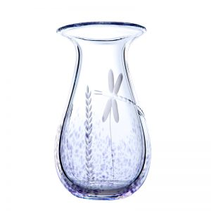 Wild Heather Irish Glass Medium Vase