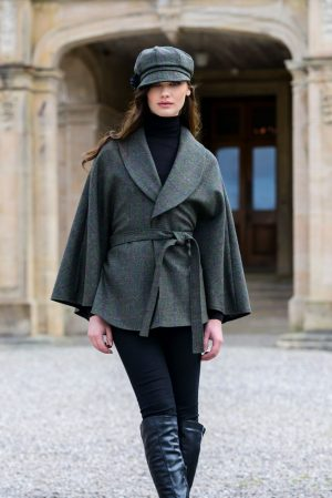 Green Mucros Irish Tweed Killarney Cape