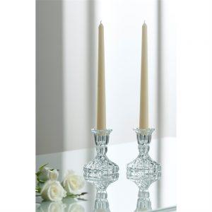 Galway Crystal Ashford Candle Holder Set