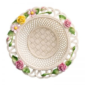 Belleek Classic Rose Gebera Basket
