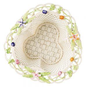 Belleek Classic Flowers of the Field Basket