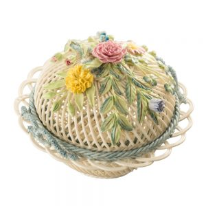 Belleek Classic Round Covered Basket