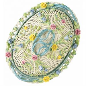 Belleek Classic Oval Covered Basket