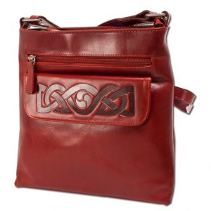 Lee River Red Leather Mary Bag