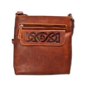 Lee River Tan Leather Mary Bag