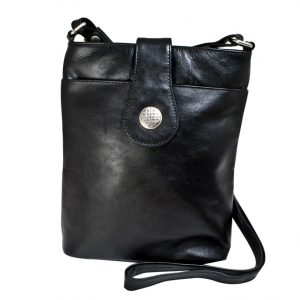 Lee River Black Leather Torc Bag
