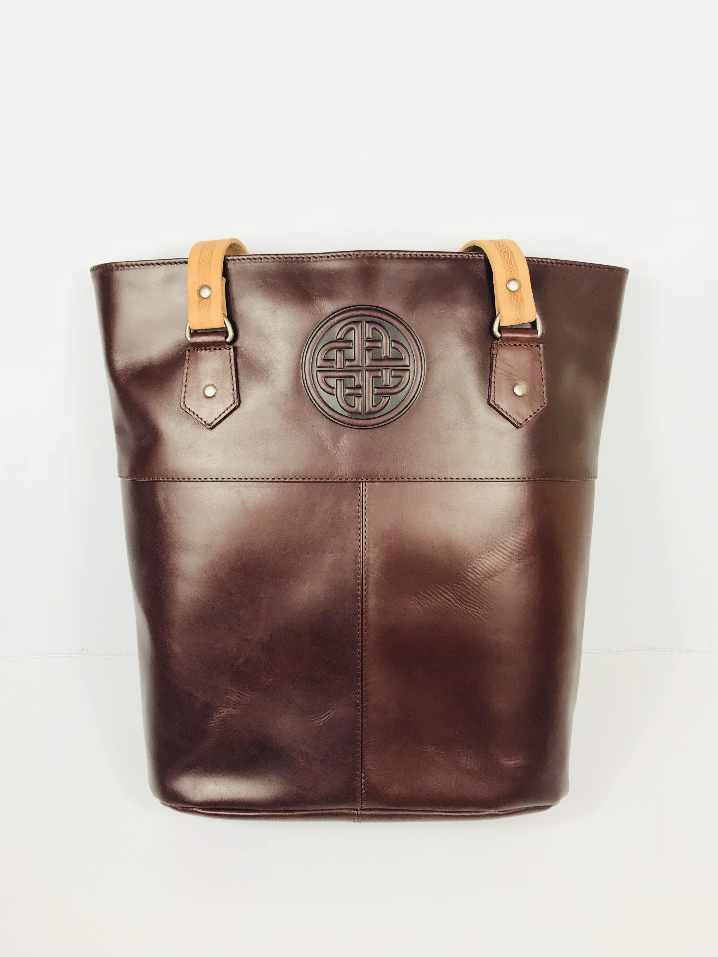 b241af839354 Lee River Brown Leather Tote Bag - Skellig Gift Store - Free Worldwide  Shipping
