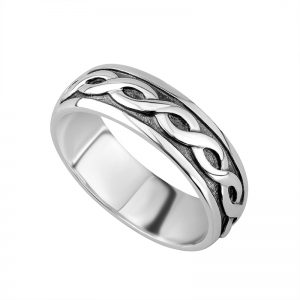Solvar Gents Sterling Silver Ring Band s2649