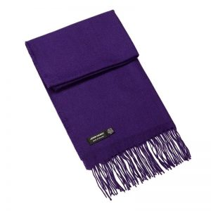 John Hanly Purple Merino Wool Scarf