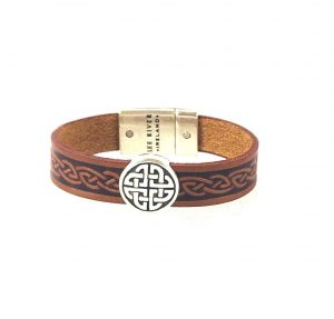 Trinity Brown Celtic Cuff Leather Bracelet