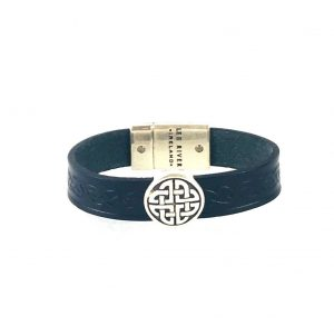 Trinity Black Celtic Cuff Leather Bracelet