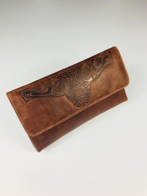 Lee River Tan Ciara Clutch Bag