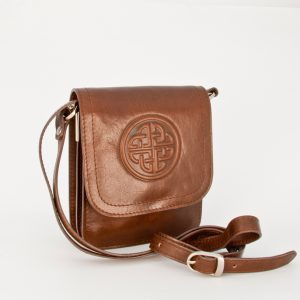 Lee River Tan Morrigan Celtic Shoulder Bag
