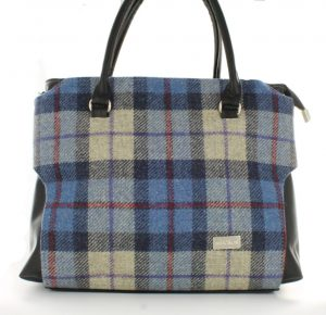 Mucros Blue Check Emily Bag