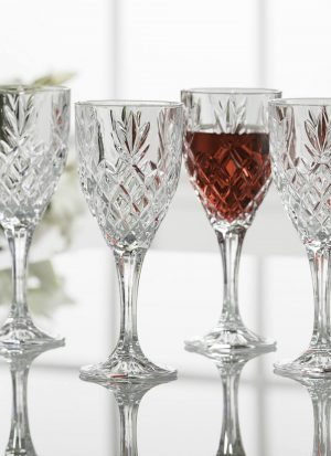Galway Irish Crystal 6 Renmore Wine Glasses