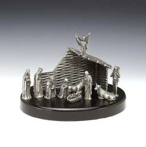 Mullingar Pewter Christmas Nativity Crib Set