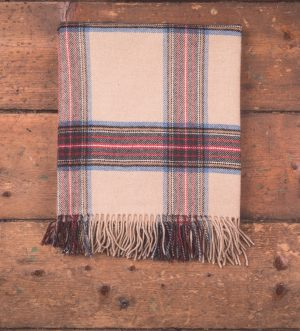 Foxford Camel Tartan Throw Blanket