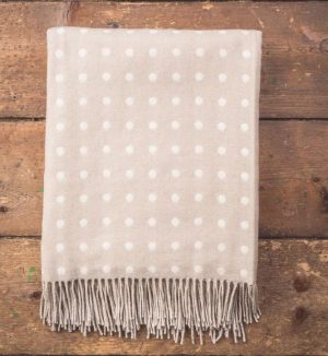 Foxford Bone Spotted Throw Blanket