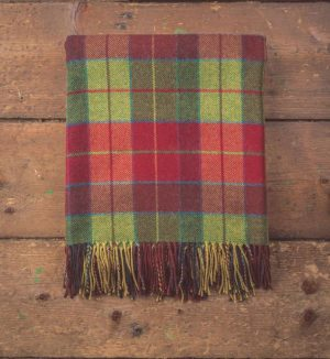 Foxford Heritage Wicklow Tartan Throw Blanket