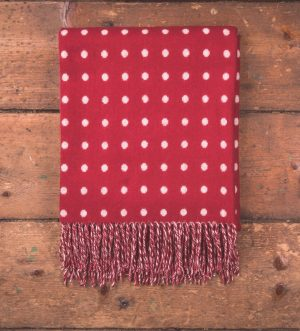 Foxford Red White Spot Throw Blanket