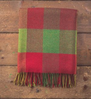 Foxford Heritage 4 Block Check Throw Blanket