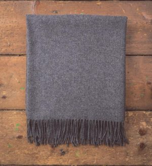 Foxford Gray Oxford Throw Blanket