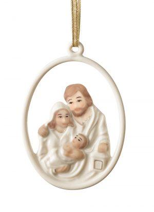 Belleek Nativity Family Ornament