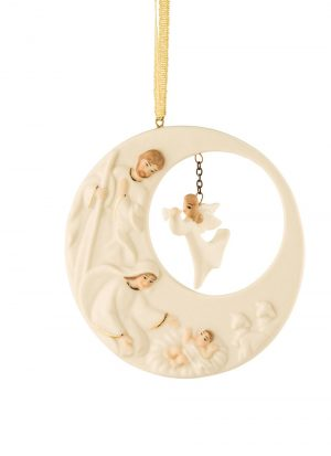 Nativity Family and Angel Ornament