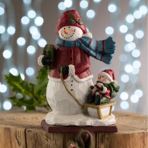 Aynsley Wooly Hat Snowman Stocking Holder