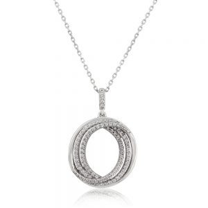Waterford Crystal Triple Circle Pendant