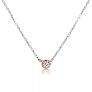 Waterford Crystal Silver Dot Pendant