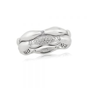 Waterford Crystal Silver Wave Ring