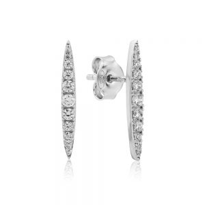 Waterford Crystal Narrow Pointed Earrings