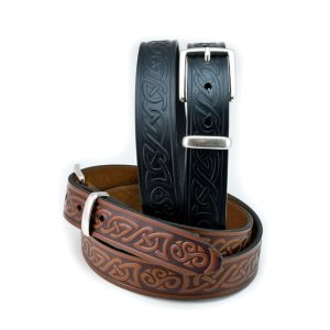 Lee River Leather Teltin Celtic Knot Belt