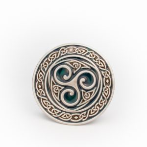 Lee River Celtic Green Triskel Belt Buckle