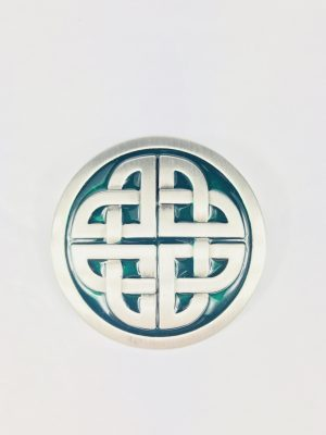 Lee River Celtic Knot Green Belt Buckle